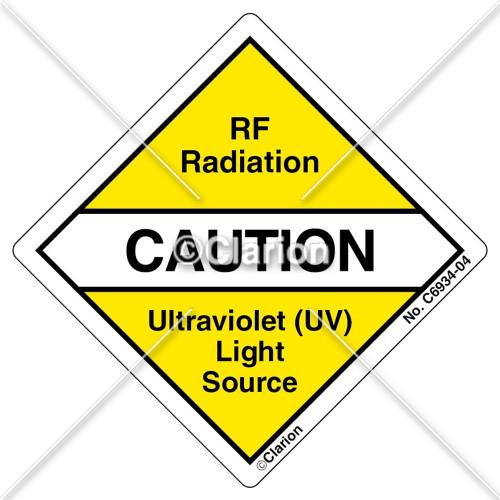 Caution/RF Radiation (C6934-04)
