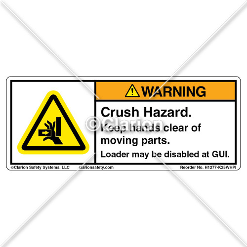 Warning/Crush Hazard Loader (H1277-K25WHPI)