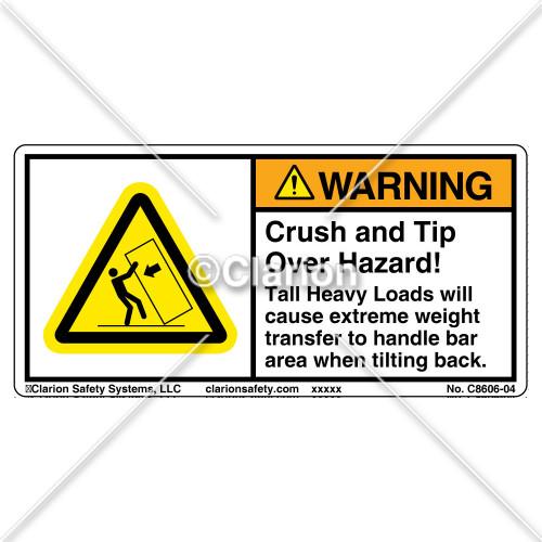 Warning/Crush Hazard (C8606-04)