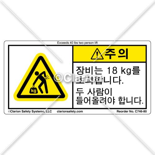 Caution/Equipment Exceeds (C746-80)