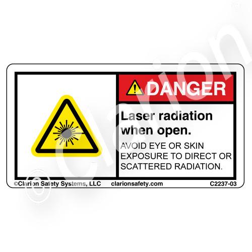 Danger/Laser Radiation when Open (C2237-03)