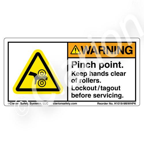 Warning/Pinch Point (H1018-M6WHPK)
