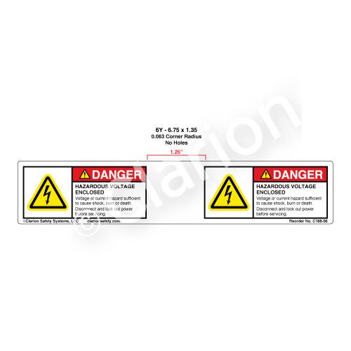 Danger/Hazardous Voltage (C188-06)