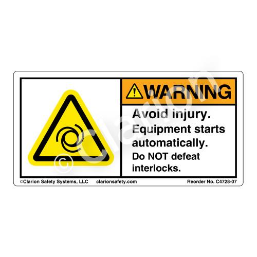 Warning/Avoid Injury (C4728-07)