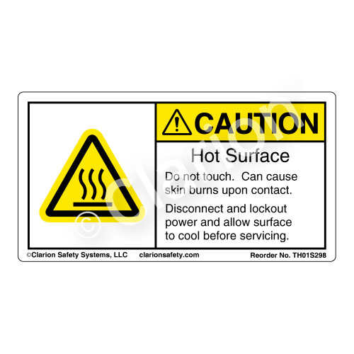 Caution/Hot Surface (TH01S298)