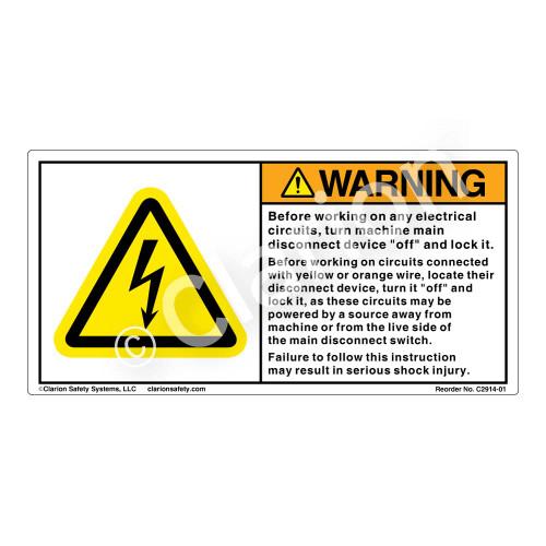 Warning/Before Working (C2914-01)