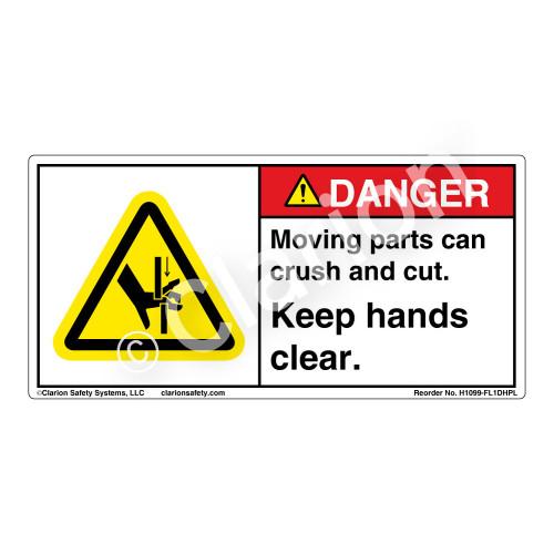 Danger/Moving parts (H1099-FL1DHPL)