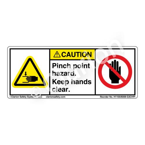 Caution/Pinch Point (H1105/6008-G3CHPI)