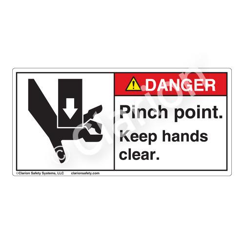 Danger/Pinch Point Label (1017-HBDH)