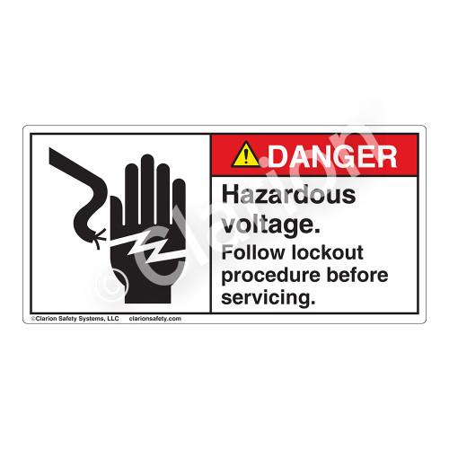 Danger/Hazardous Voltage Label (1023-19DHP)