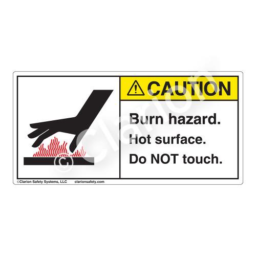 Caution/Burn Hazard Label (1024-01CHT)