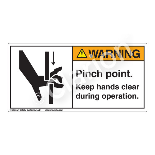Warning/Pinch Point Label (1099-58WH)