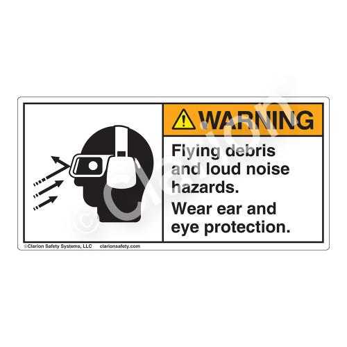 Warning/Flying Debris Label (3002-KTWHP)