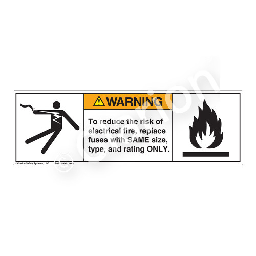 Warning/To Reduce the Risk Label (5025/6020-F63WH)
