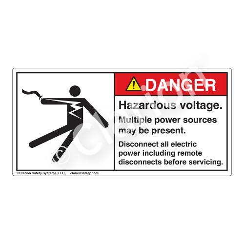 Danger/Hazardous Voltage Label (5025-61DHP)