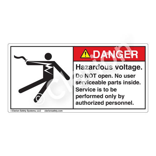 Danger/Hazardous Voltage Label (5025-GBDHP)