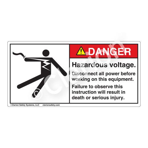 Danger/Hazardous Voltage Label (5025-GEDHP)