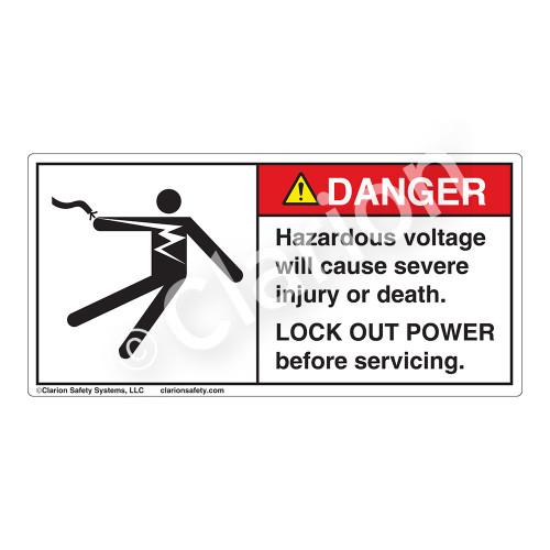 Danger/Hazardous Voltage Label (5025-V54DH)