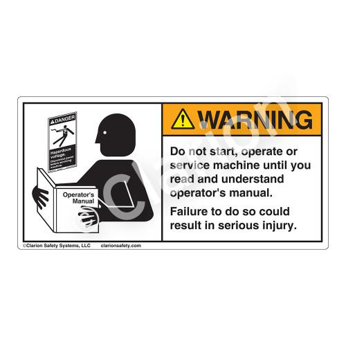 Warning/Do Not Start Label (6000-GRWHP)