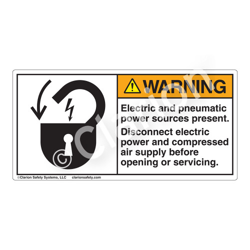 Warning/Electric and Pneumatic Label (6011-JEWHP)