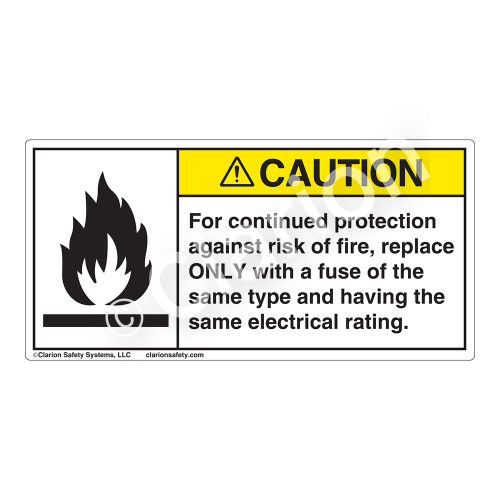 Caution/For Continued Protection Label (6020-C3CHP)