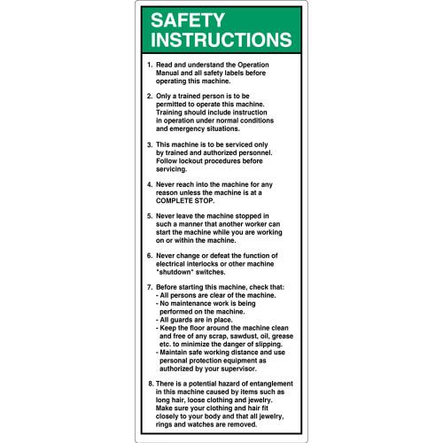Safety Instruction/Read and Understand Label (7002-DESVP-)