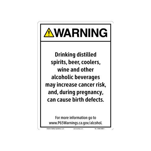 CA Prop 65 Alcohol Beverage Exposure Sign (CA65-ABE1-)