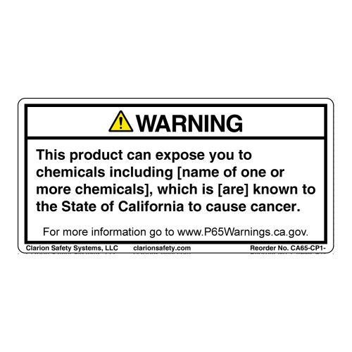 CA Prop 65 Consumer Products Label (CA65-CP1-)
