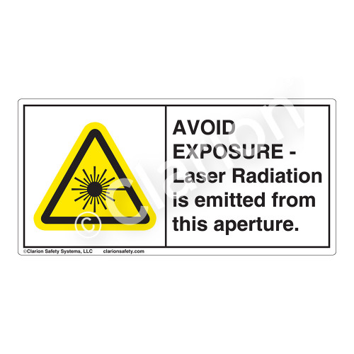 Avoid Exposure Laser Radiation Label (CDRH0001-H)