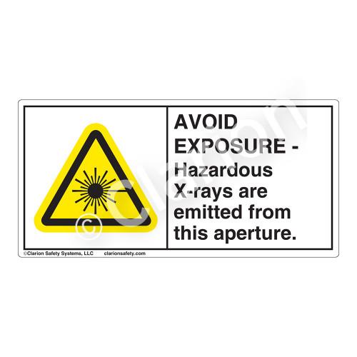 Avoid Exposure Hazardous X-rays Label (CDRH0003-H)