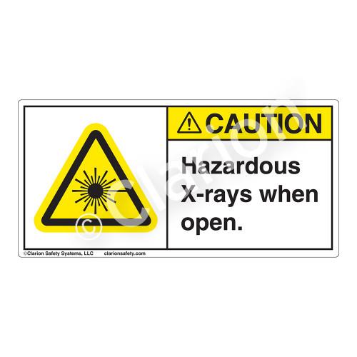 Caution/Hazardous X-rays when Open Label (CDRH0005-H)