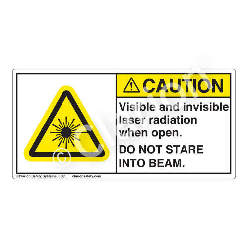 Caution/Visible & Invisible Laser RadiationLabel (CDRH2005-)