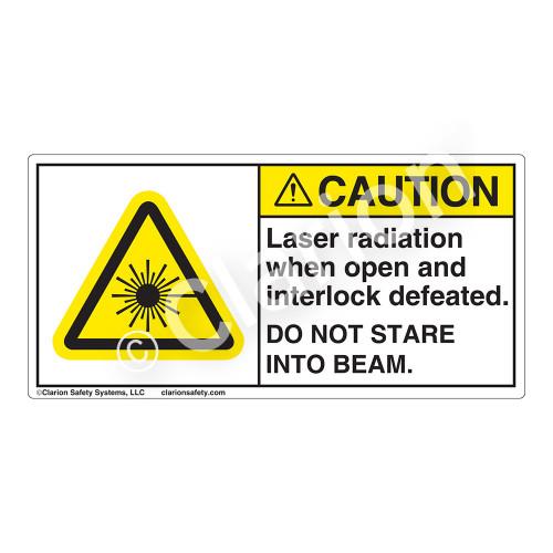 Caution/Laser Radiation when Open Label (CDRH2006-)