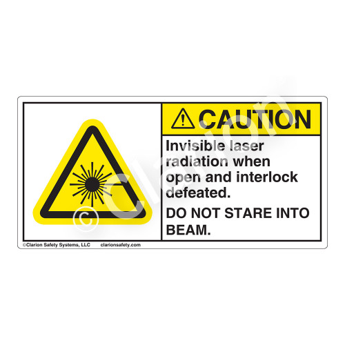 Caution/Invisible Laser Radiation when OpenLabel (CDRH2007-)
