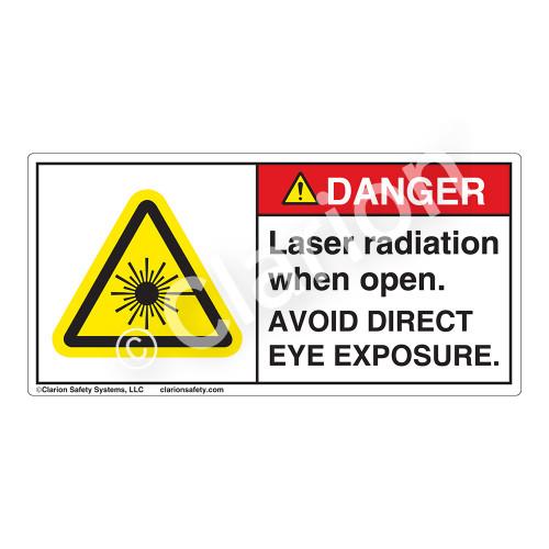 Danger/Laser Radiation when Open Label (CDRH3007-H)