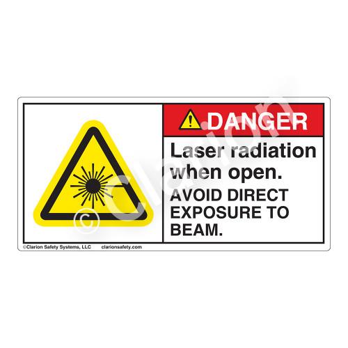 Danger/Laser Radiation when Open Label (CDRH3008-H)