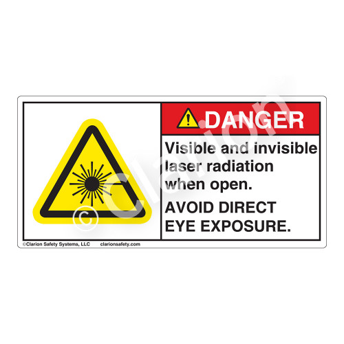 Danger/Visible & Invisible Laser RadiationLabel (CDRH3013-)