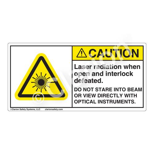 Caution/Laser Radiation when OpenLabel (CDRH3015-)