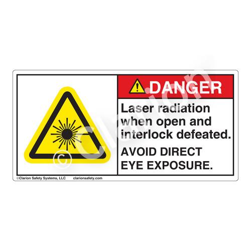 Danger/Laser Radiation when OpenLabel (CDRH3016-)