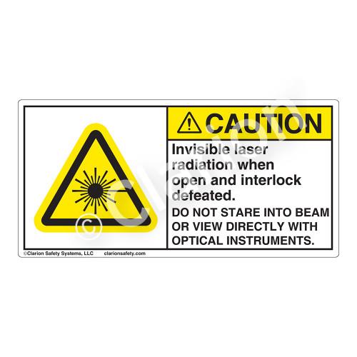 Caution/Invisible Laser Radiation Label (CDRH3018-)