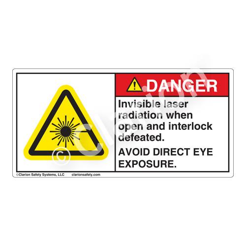Danger/Invisible Laser Radiation Label (CDRH3019-)