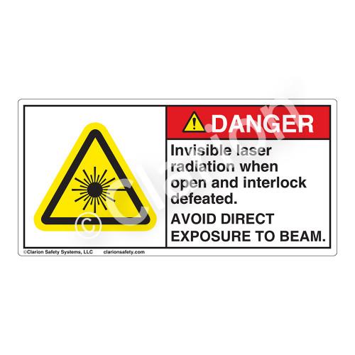Danger/Invisible Laser Radiation Label (CDRH3020-)