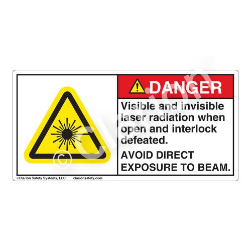 Danger/Visible & Invisible Laser Radiation Label (CDRH3023-)