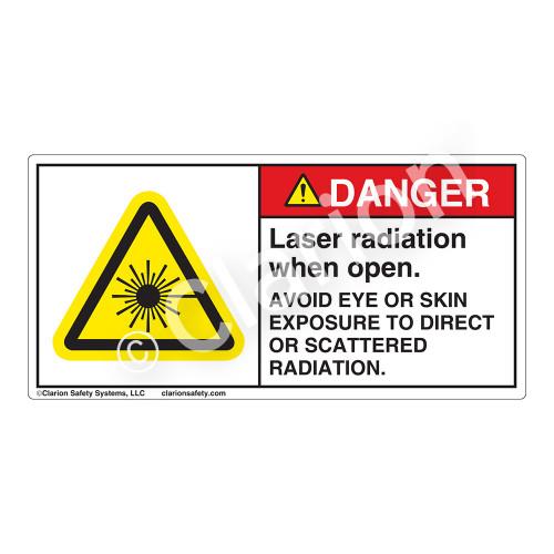 Danger/Laser Radiation when Open Label (CDRH4004-H)