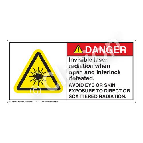 Danger/Invisible Laser Radiation Label (CDRH4008-)