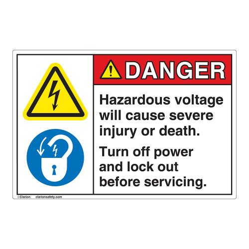 Danger Hazardous Voltage Label (EMC 11)