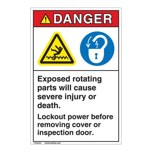 Danger Rotating Parts Label (EMC 14)