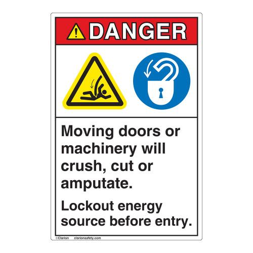 Danger Moving Doors Label (EMC 16)