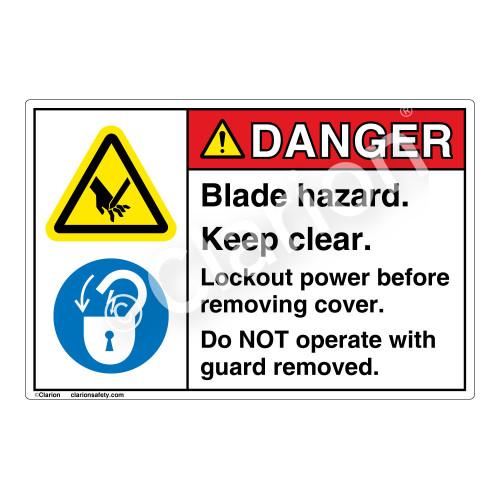 Danger Knives Will Cause Label (EMC 17)