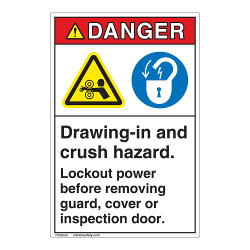 Danger Drawing In Label (EMC 23)